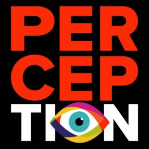 Logo with the word 'perception'