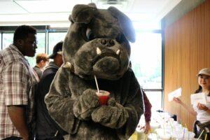 Brutus enjoying his tea!