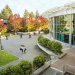 Image of the Bellevue College campus in fall