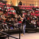 Dr. David Stovall speaks to more than 100 Bellevue School District high school students at Bellevue College