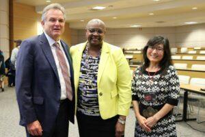 Dr. Jerry Weber, Dr. Sheila Edwards-Lange, Dr. Sayumi Irey