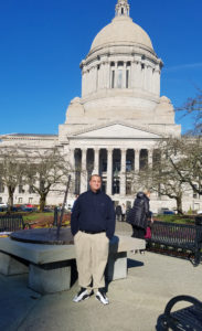 Joey Wilson at the Washington State Capitol