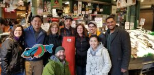 BC faculty at the Pike Place Fish Market