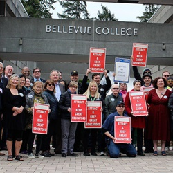 BC staff and faculty rally for higher education funding