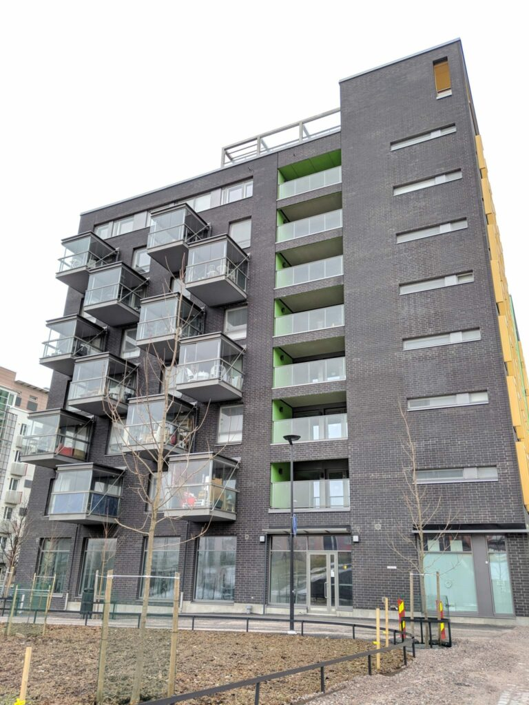 Exterior of a housing project in Helsinki