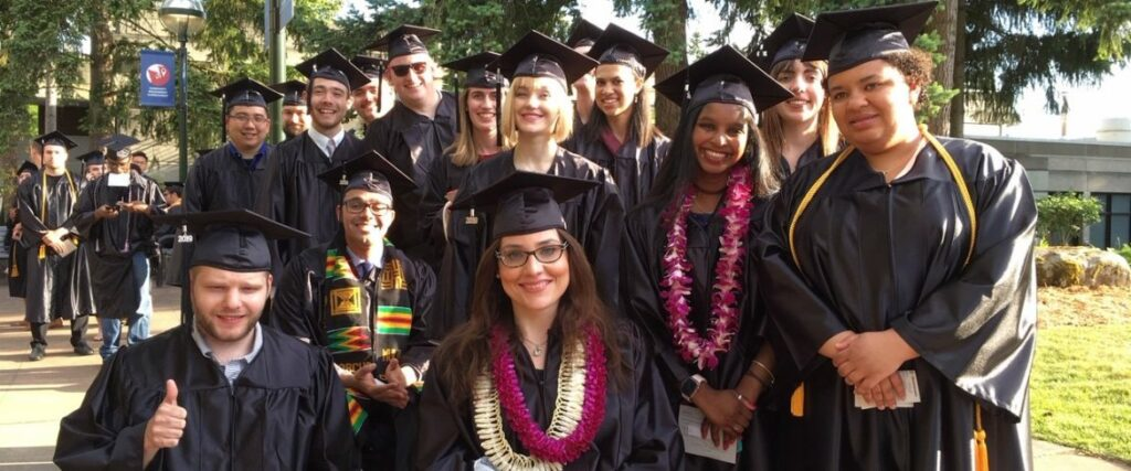 OLS grads at the 2019 Spring commencement ceremony