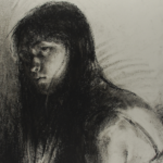 Art 120, Self Portrait in Charcoal