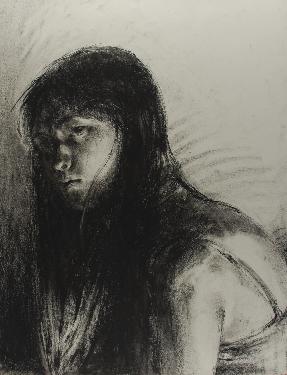Art 120, Self Portrait in Charcoal