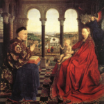 The Virgin of Ivers by Van Eyck painted in 1435