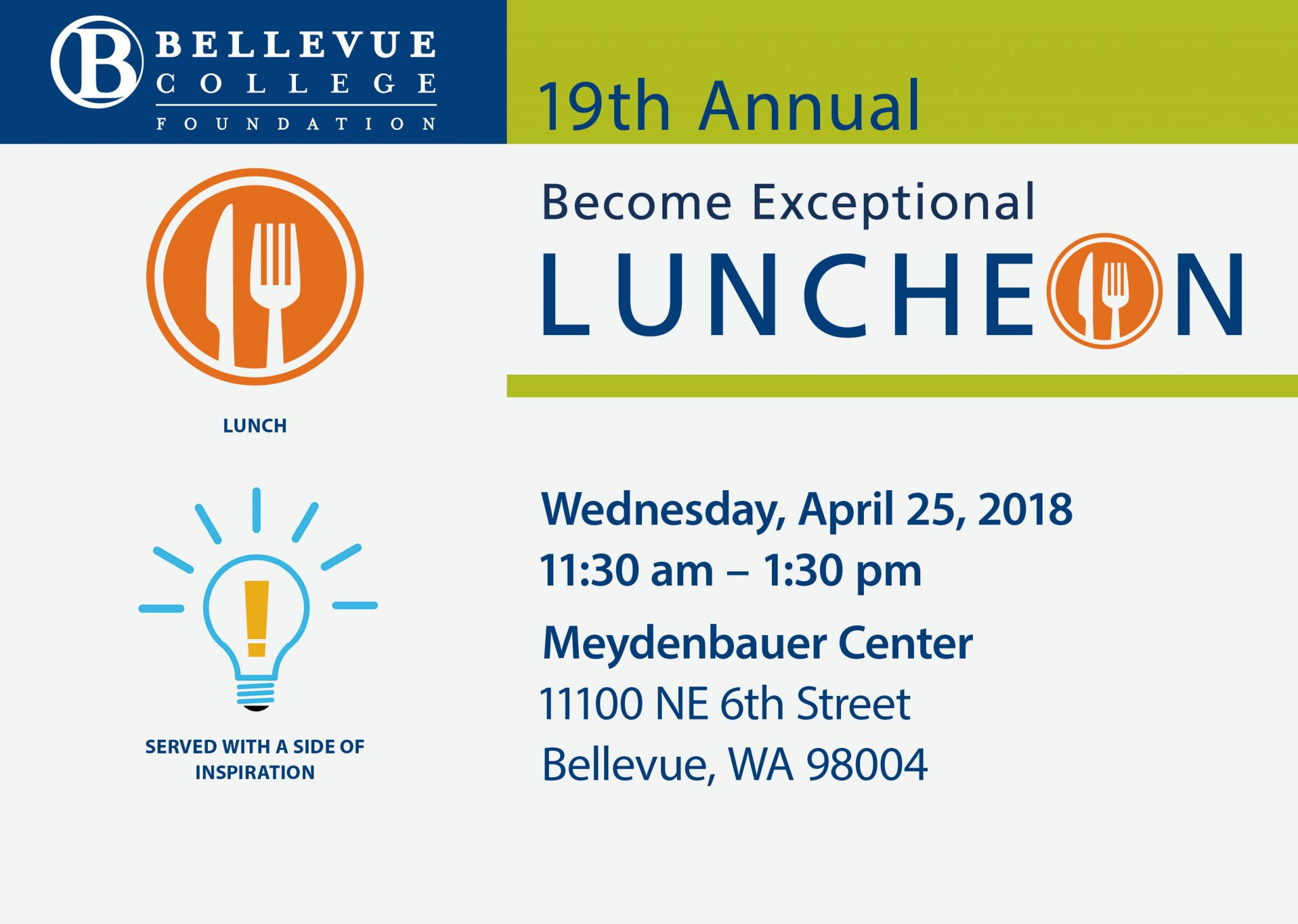 Become Exceptional Luncheon on April 25