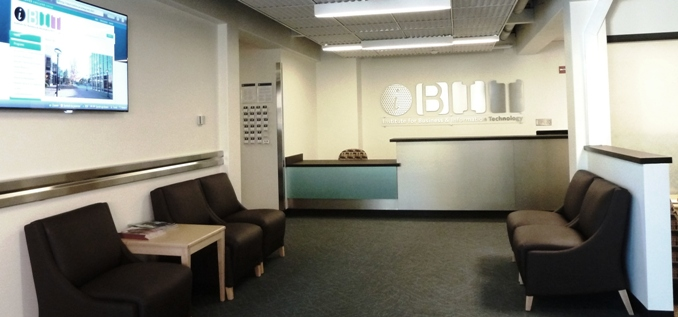 Image of the Front Desk of the IBIT office
