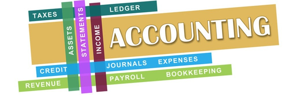 Collection of accounting terms - accounting, taxes, ledger, assets, statments, income, credit, journals, expenses, revenue, payroll, bookkeeping