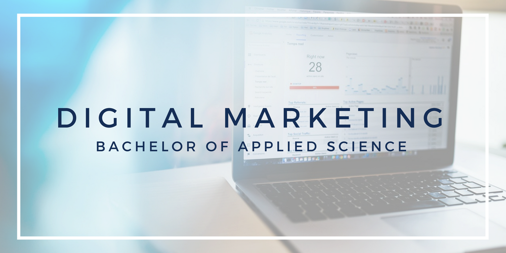 Digital Marketing Bachelor of Applied Science.