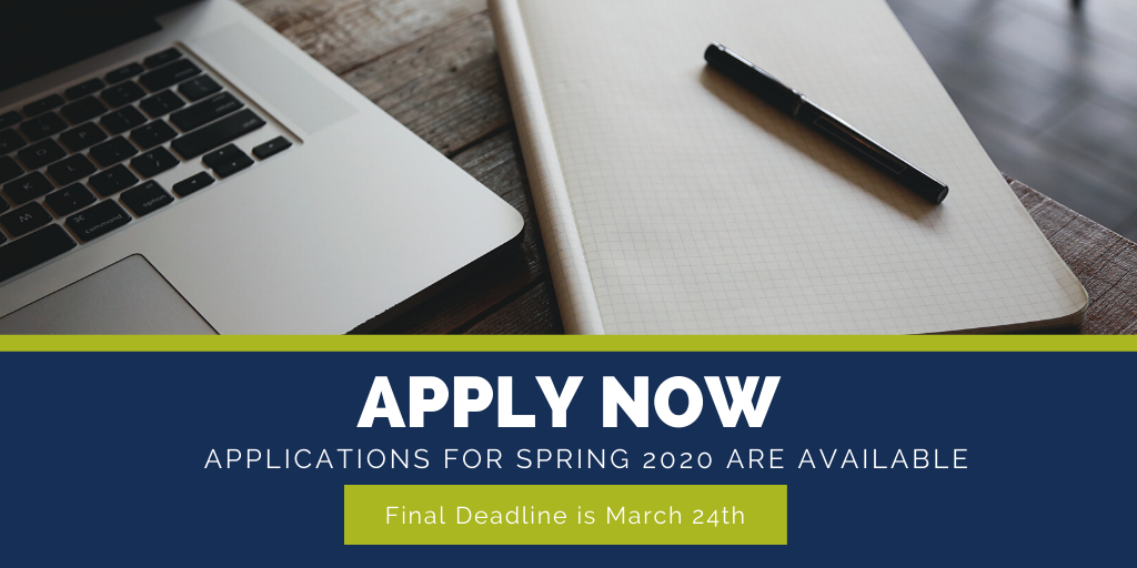 Apply now for Spring 2020 Admission