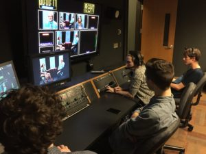 students in the studio