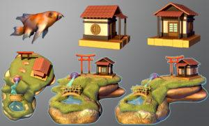 3D student work of Japanese Garden