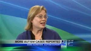 Sara Gardner giving TV interview