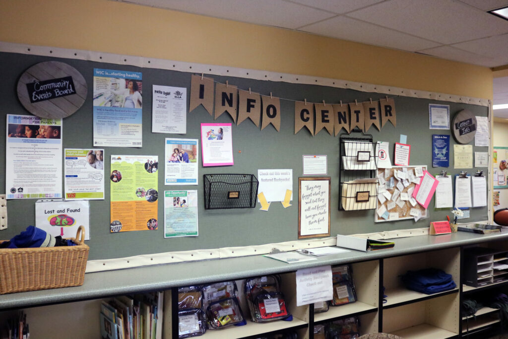 Image of schools resource board