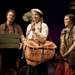 "Three characters in ""Still Life with Iris."""