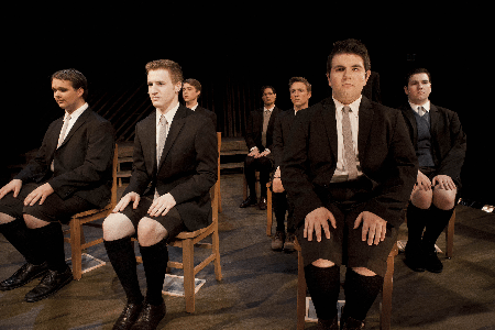 Spring Awakening ...men characters sitting in chairs