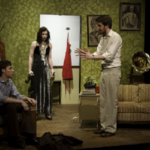 The Shadow Box scene with three actors