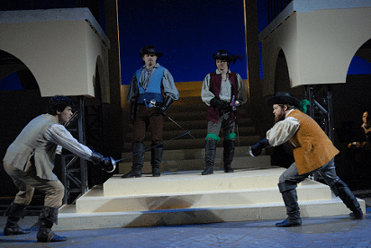 Three Musketeers...dueling with onlookers