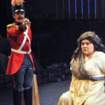 Translations scene with soldier and woman