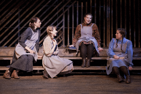Spring Awakening female Characters sitting on porch