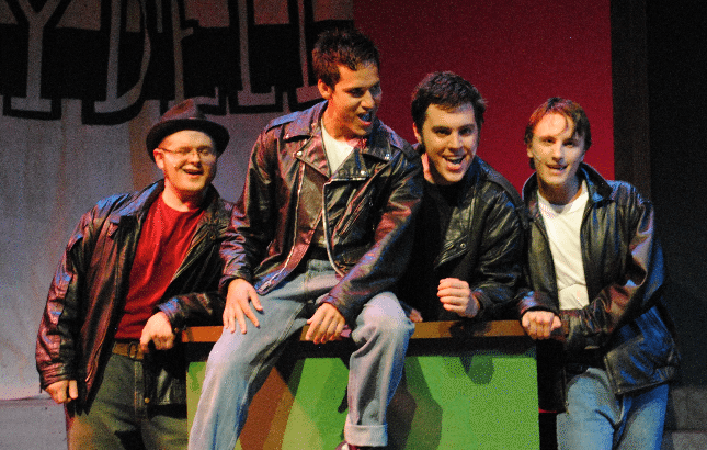 Grease musical number by four of the T-Birds