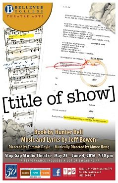 Title of Show performance Poster