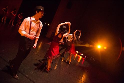 Group dancing to latin music
