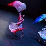 Dance duo dancing to Japanese music