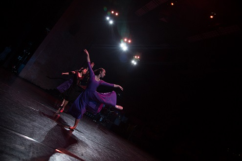 Dance trio performaing to contemporary music