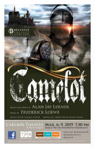 Camelot Theatre Performance flyer