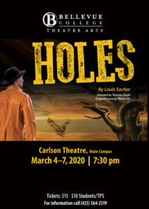 The performance Holes poster