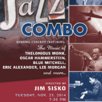 Jazz Combo poster with program info
