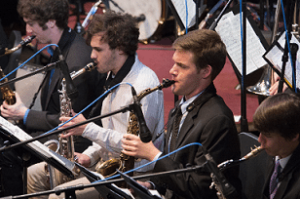 Jazz Band section of players and Instruments