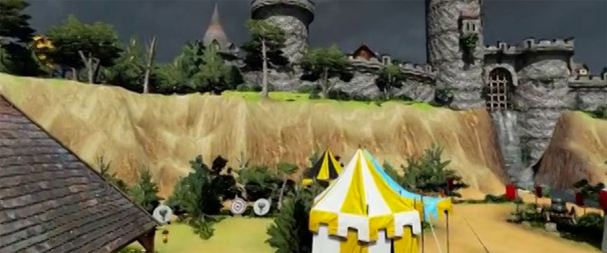 Image of computer generated castle scene