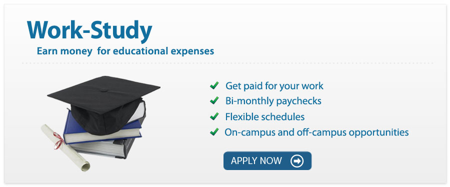 The Work-Study program provides part-time employment to undergraduates and graduates to help with college expenses.