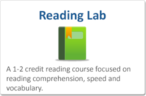 Reading Lab: A 1-2 credit reading course focused on reading comprehension, speed and vocabulary.